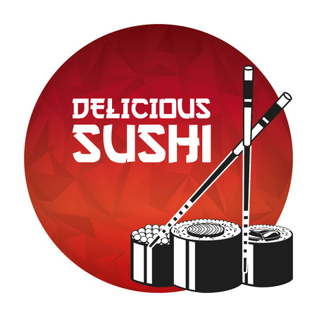sushi: delicious sushi design, vector illustration   graphic