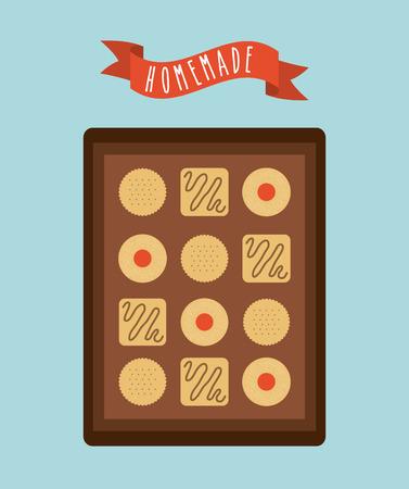 homemade: homemade food design, vector illustration