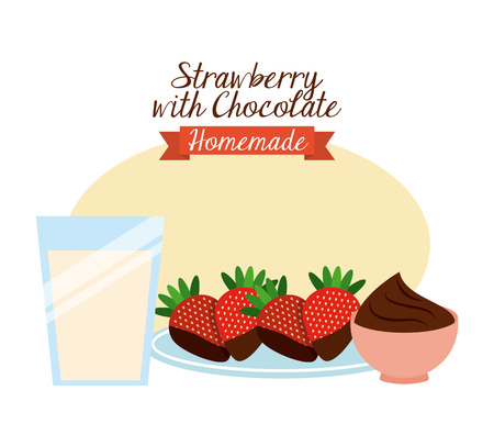 layout strawberry: homemade food design, vector illustration   graphic