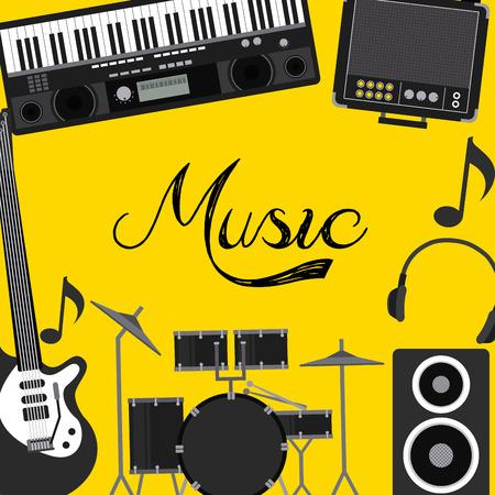 music lyrics: diseño de la música en línea, ilustración vectorial gráfico eps10