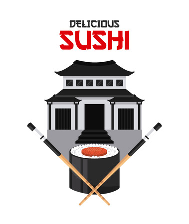 egg roll: delicious sushi design, vector illustration eps10 graphic