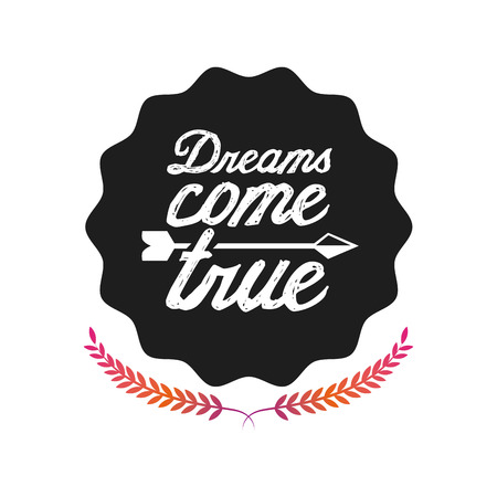 dream: dreams postcard design, vector illustration   graphic Illustration
