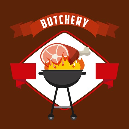butchery: butchery house design, vector illustration eps10 graphic
