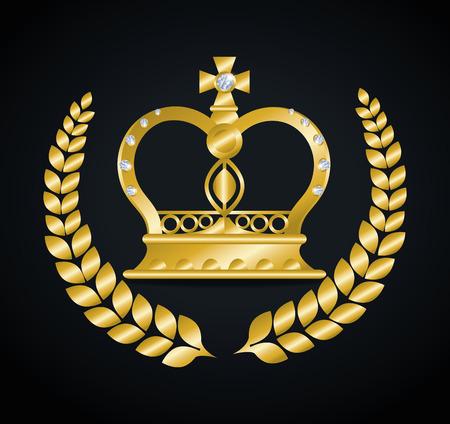 Crown digital design, vector illustration eps 10.