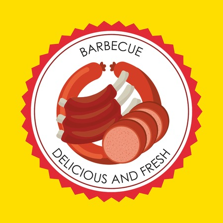 deli meat: butchery house design, vector illustration eps10 graphic