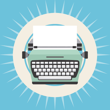 old typewriter: old device design, vector illustration eps10 graphic