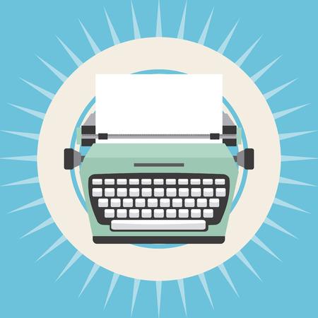 typewriter: old device design, vector illustration eps10 graphic