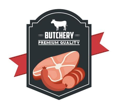deli: butchery house design, vector illustration eps10 graphic