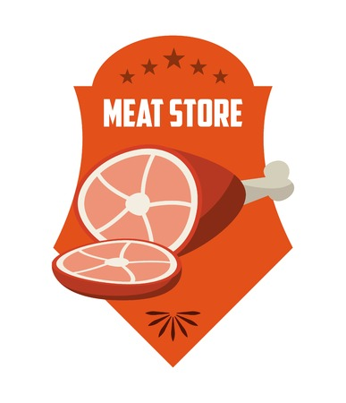 carnicer�a: dise�o de la casa carnicer�a, ilustraci�n vectorial gr�fico eps10 Vectores