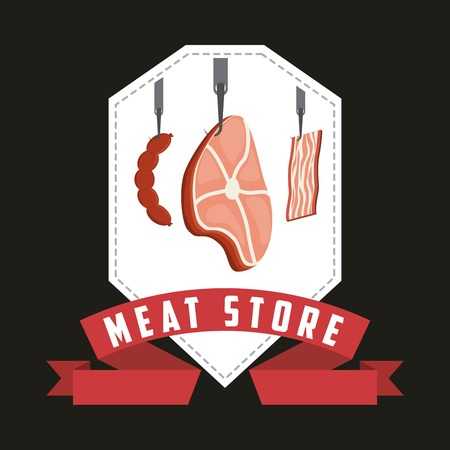 carniceria: diseño de la casa carnicería, ilustración vectorial gráfico eps10 Vectores