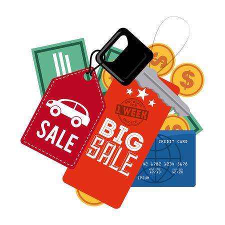 car bills: commerce tags design, vector illustration eps10 graphic