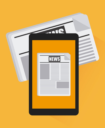 multimedia pictogram: news breaking design, vector illustration eps10 graphic