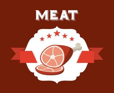 carnicería: diseño de la casa carnicería, ilustración vectorial gráfico eps10 Vectores