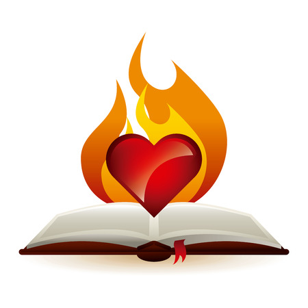 open flame: holy bible design, vector illustration eps10 graphic