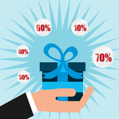 box design: gift box design, vector illustration eps10 graphic