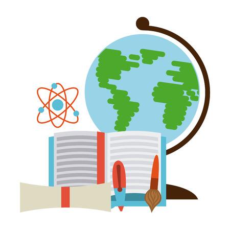 world class: school equipment design, vector illustration eps10 graphic