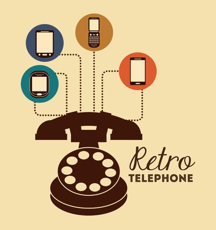 retro telephone: retro telephone design, vector illustration eps10 graphic Illustration