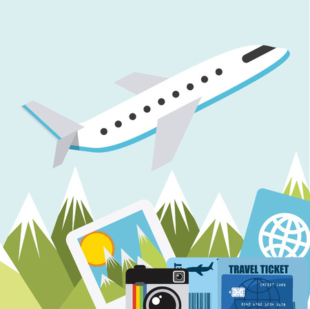 mountain pass: travel vacations design, vector illustration eps10 graphic Illustration