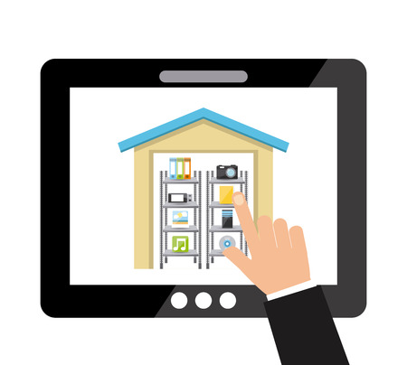 storage concept design, vector illustration eps10 graphic Çizim