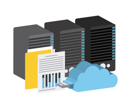 mainframe: data storage center design, vector illustration eps10 graphic Illustration