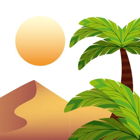 desert landscape: desert landscape design, vector illustration eps10 graphic