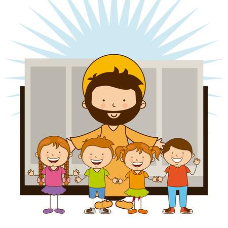 diseño sagrada biblia, ilustración vectorial gráfico eps10