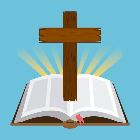 holy  symbol: dise�o sagrada biblia, ilustraci�n vectorial gr�fico eps10