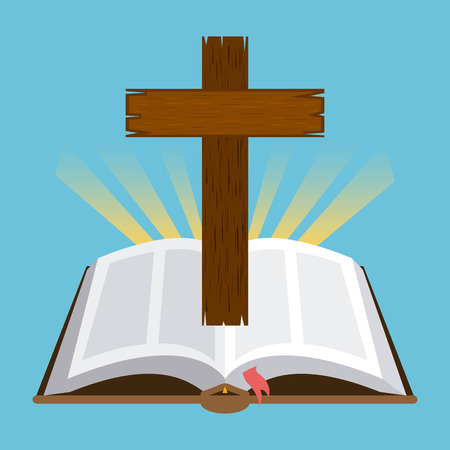 holy cross: holy bible design, vector illustration eps10 graphic