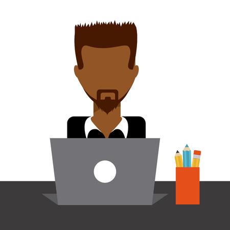 computer user: computer user design, vector illustration eps10 graphic