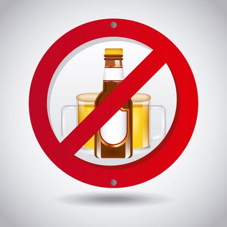 alcoholism: no beer design, vector illustration eps10 graphic Illustration