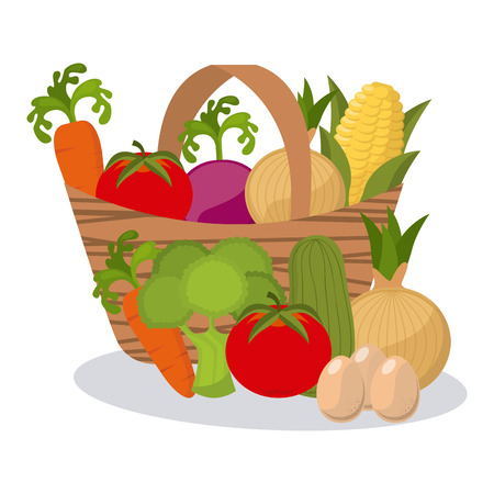 légumes frais de conception, illustration vectorielle graphique eps10