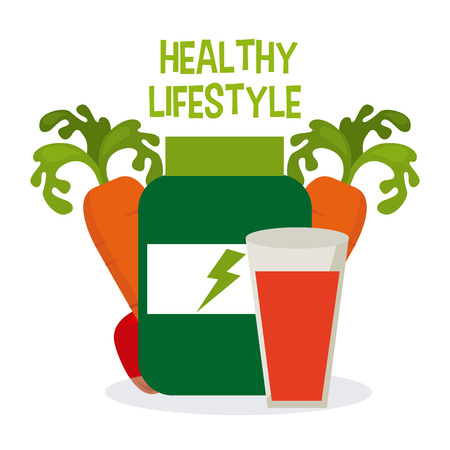 bootle: healthy lifestyle design, vector illustration eps10 graphic Illustration
