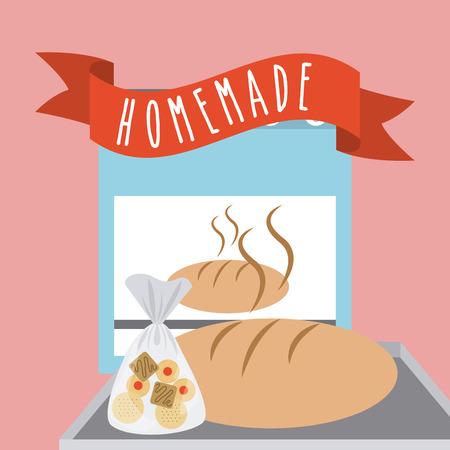 homemade bread: homemade delights design, vector illustration eps10 graphic