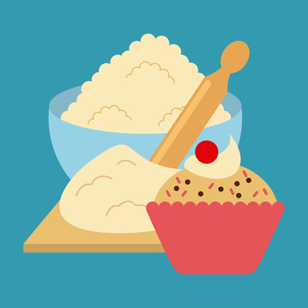 food dish: homemade delights design, vector illustration eps10 graphic