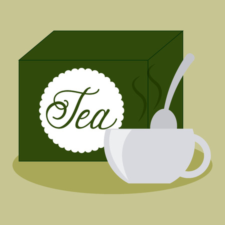 cover background time: tea time design, vector illustration eps10 graphic