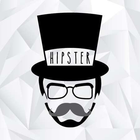 glases: hipster style design, vector illustration eps10 graphic