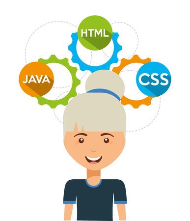 software programmer design, vector illustration eps10 graphic