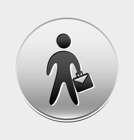guy standing: business people design Illustration