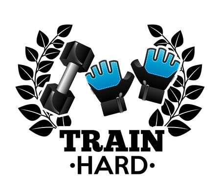 fitness trainer: train hard design