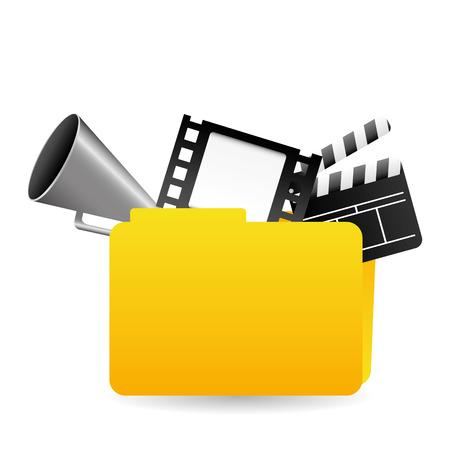 folder design: video  folder design  Illustration