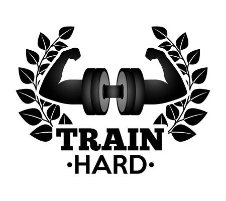 hard: train hard design Illustration