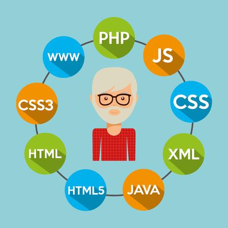 software programmeur ontwerp, Stock Illustratie