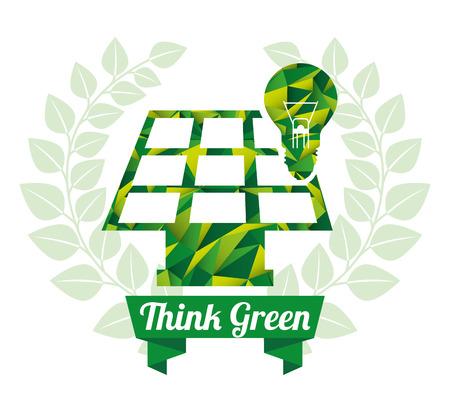 ligh: think green design  Illustration