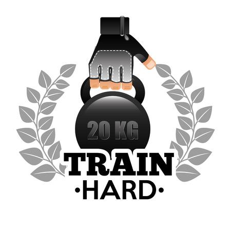 hard: train hard design,  Illustration