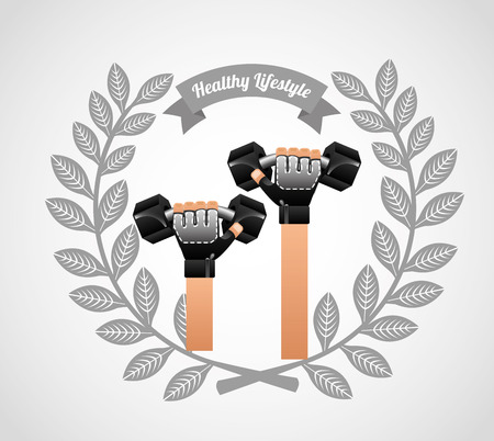 active life: healthy lifestyle design, vector illustration eps10 graphic Illustration