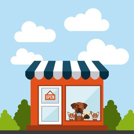 domestic animals: domestic animals design, vector illustration graphic Illustration