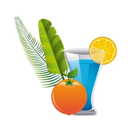 tropical drink: tropical drink design, vector illustration graphic Illustration