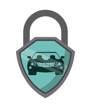 Diseño de seguro de automóvil, ilustración vectorial gráfico Foto de archivo - 42784777