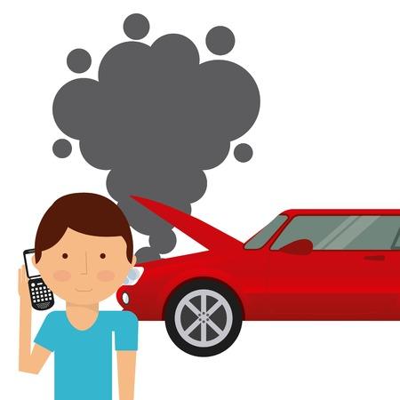 car insurance design, vector illustration graphic