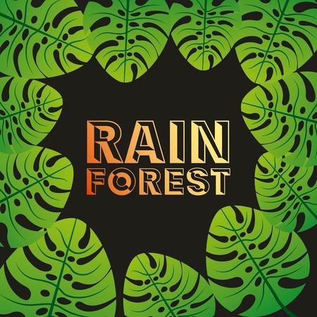 diseño de la selva tropical, ilustración vectorial gráfico